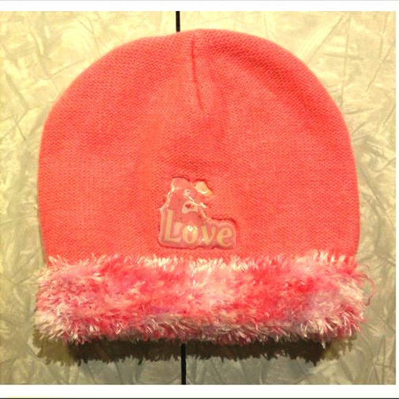 47cd91d3c Love-a-lot Care Bears Pink Winter Hat, Fuzzy Trim
